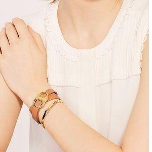 Tory Burch vachetta Gemini link double bracelet